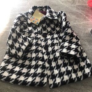 18M houndstooth peacoat NWT